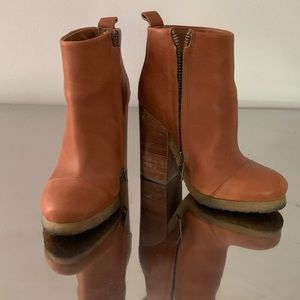 All Saints caramel leather boots 5.5 6